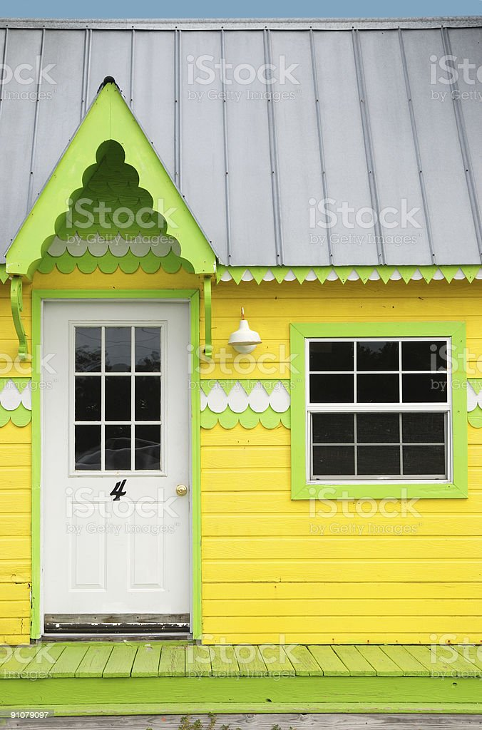 Yellow Cottage Entrance royalty-free stock photo