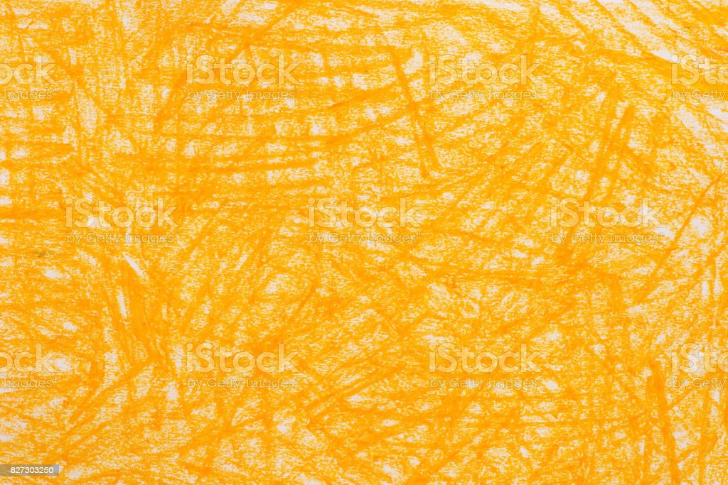 yellow crayon doodles background texture
