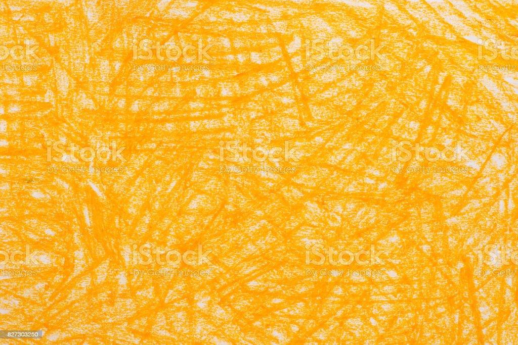 gelbe Kreide Kritzeleien Hintergrundtextur – Foto