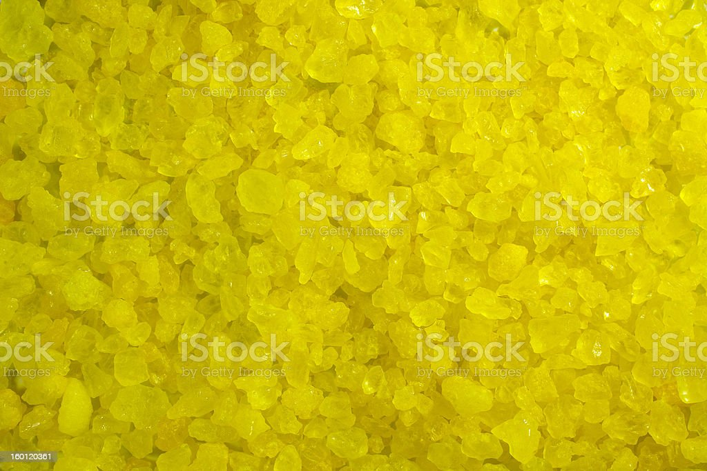 Yellow Crystal Rock Background stock photo