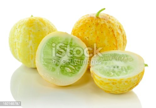 yellow cucumbers isolated on white