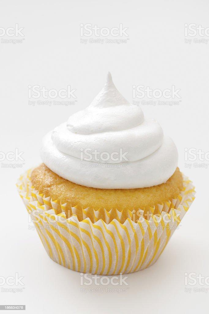 Yellow cupcake stock photo