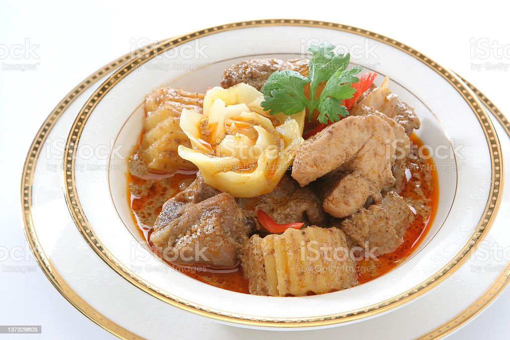 Yellow Curry Chicken royalty-free stock photo