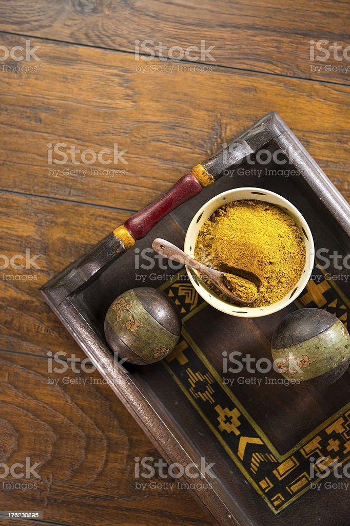 Yellow Curry Powder royalty-free stock photo