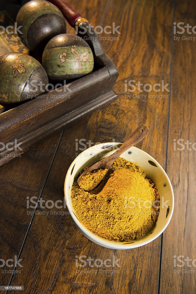 Yellow Curry Powder royalty-free stock photo