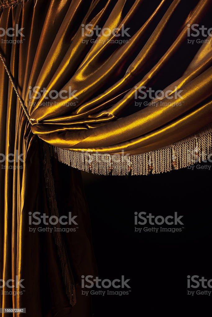 Yellow Curtain royalty-free stock photo
