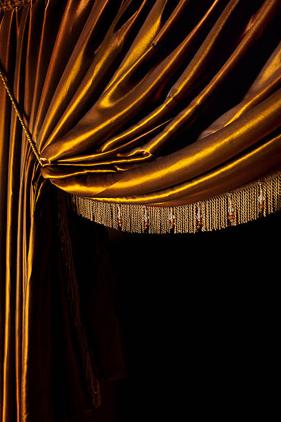 Yellow Curtain stock photo