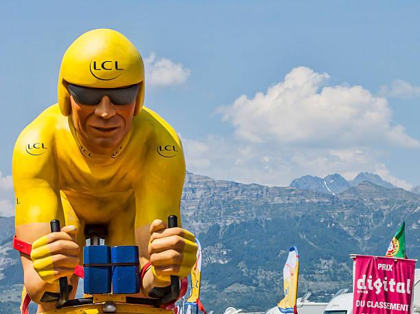 LCL Yellow Cyclist Mascot stock photo