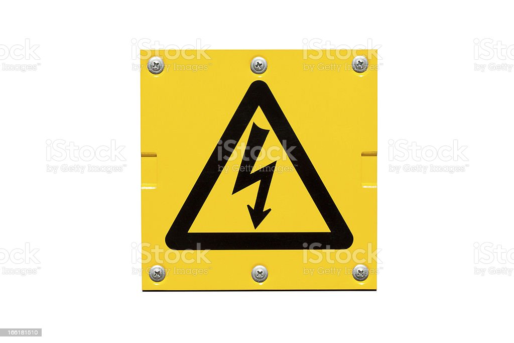 Yellow Danger of Death warning sign royalty-free stock photo