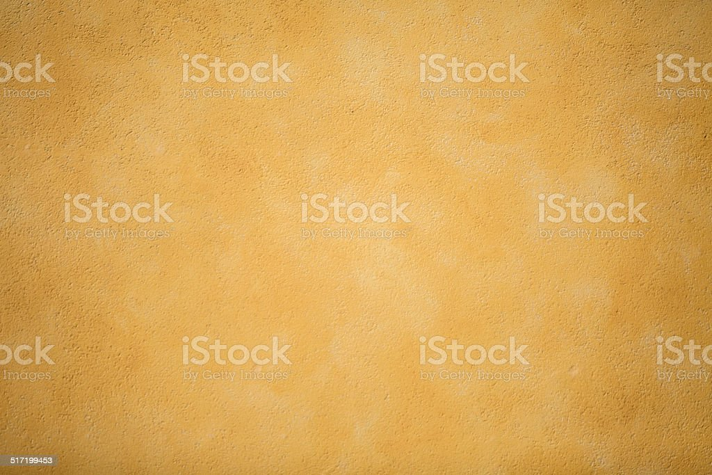 Yellow Decorative Plaster Wall Stock Photo & More Pictures of ...