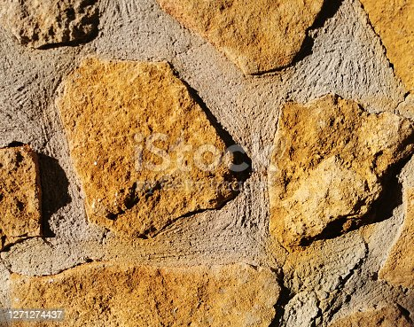 texture of concrete wall with stone imitation