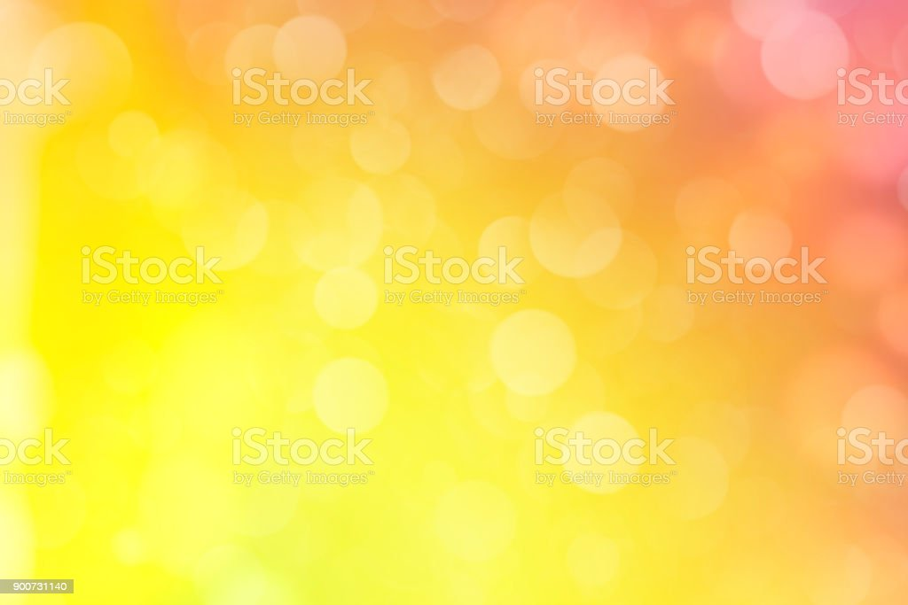Yellow Defocused Light Background stock photo