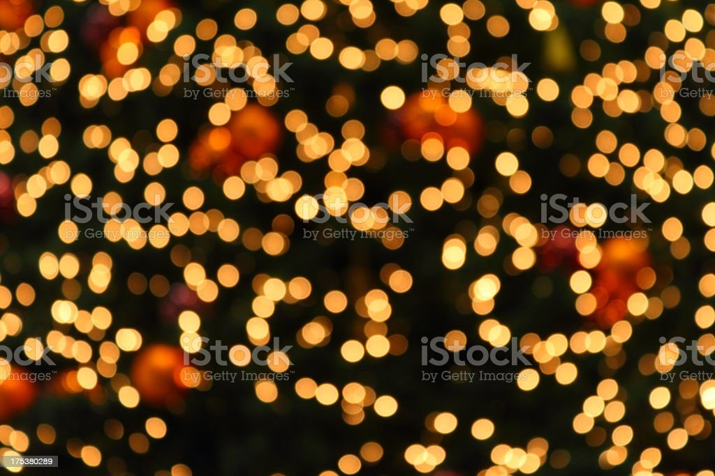 Yellow Defocused (Holiday Background) stock photo