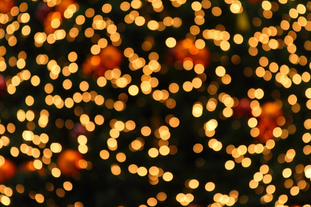 yellow defocused (holiday background) - disco lights stock photos and pictures