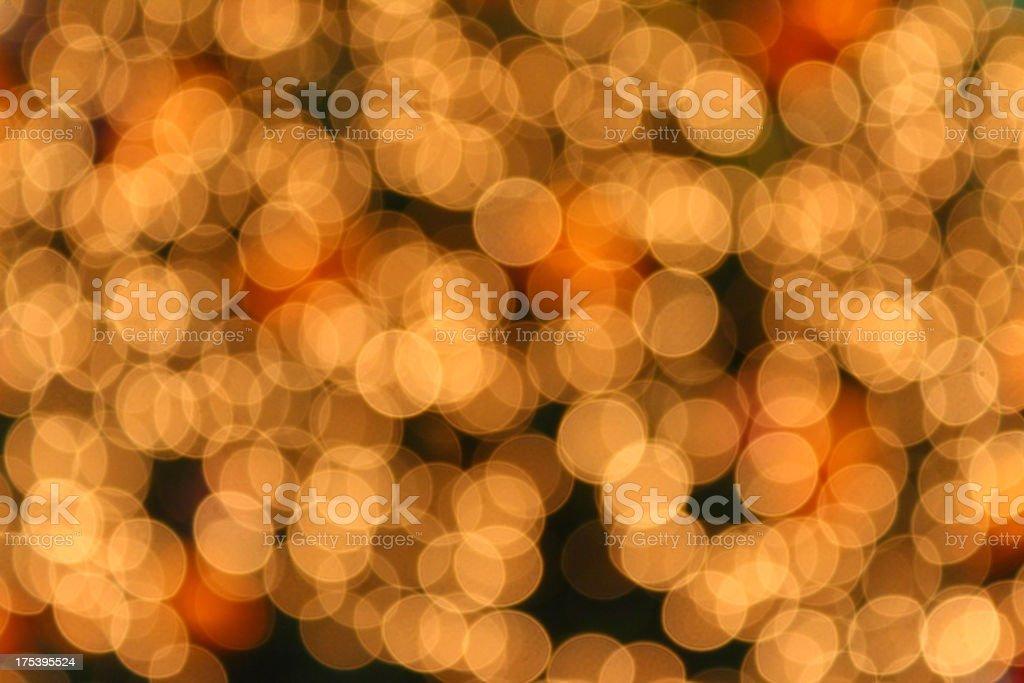 Yellow Defocused (Holiday Background) royalty-free stock photo
