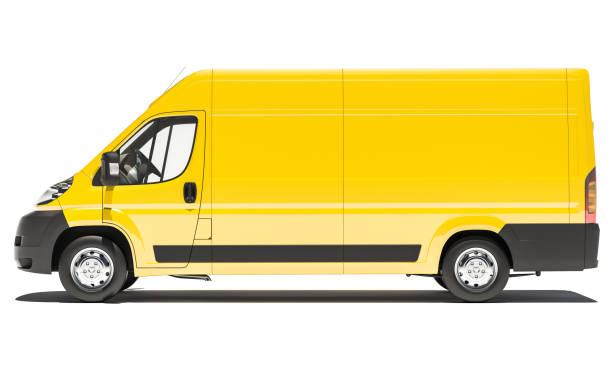 Gelbe Delivery Van – Foto