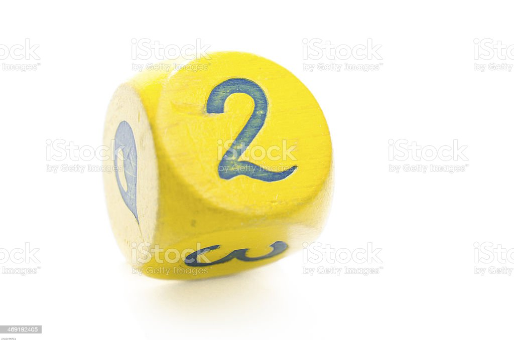 Yellow Dice royalty-free stock photo