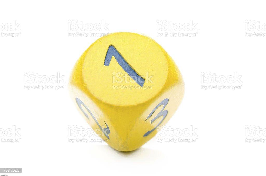 Yellow Dice stock photo