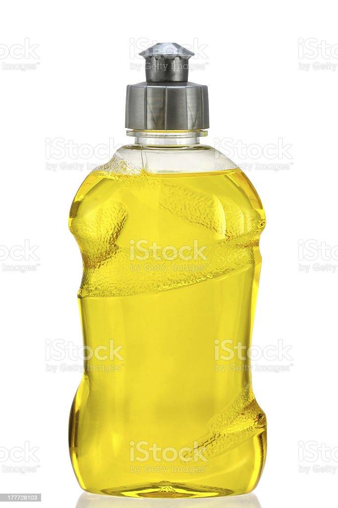 Yellow Dish Washing Liquid royalty-free stock photo