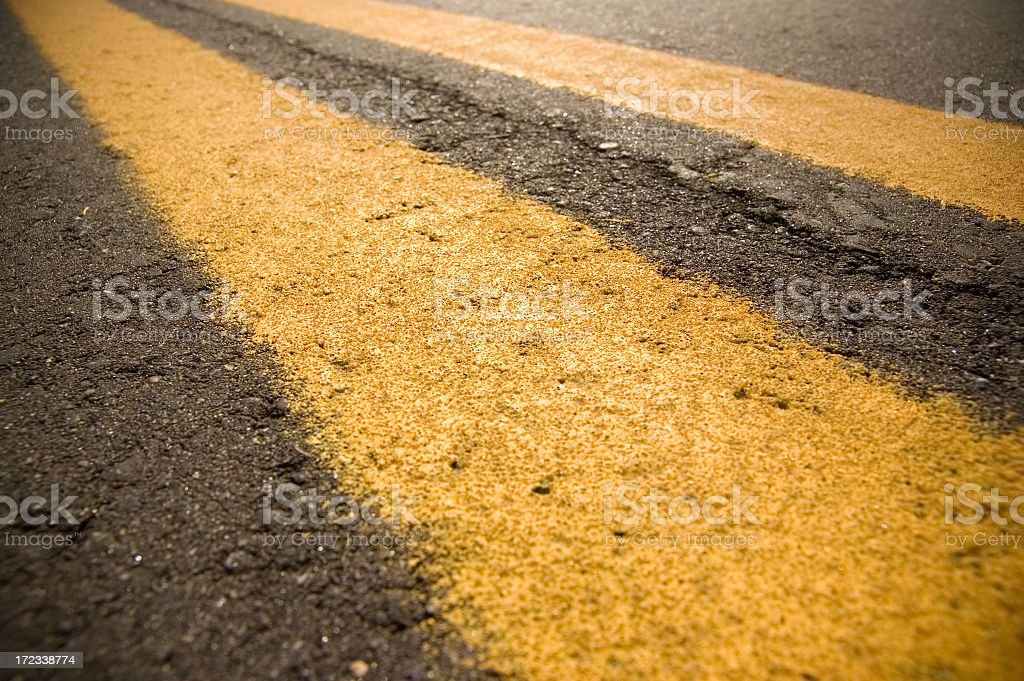 Yellow divider lines royalty-free stock photo