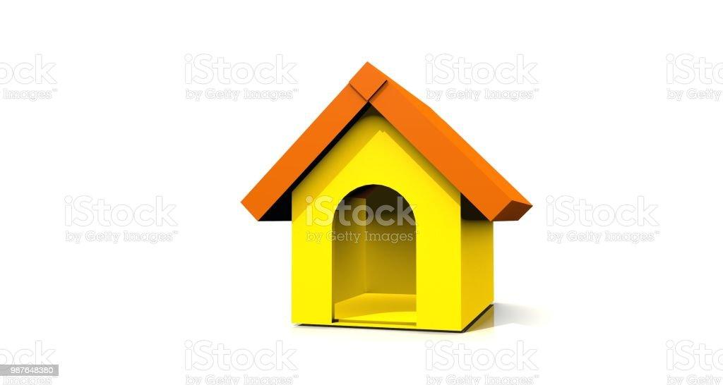 Yellow doghouse стоковое фото