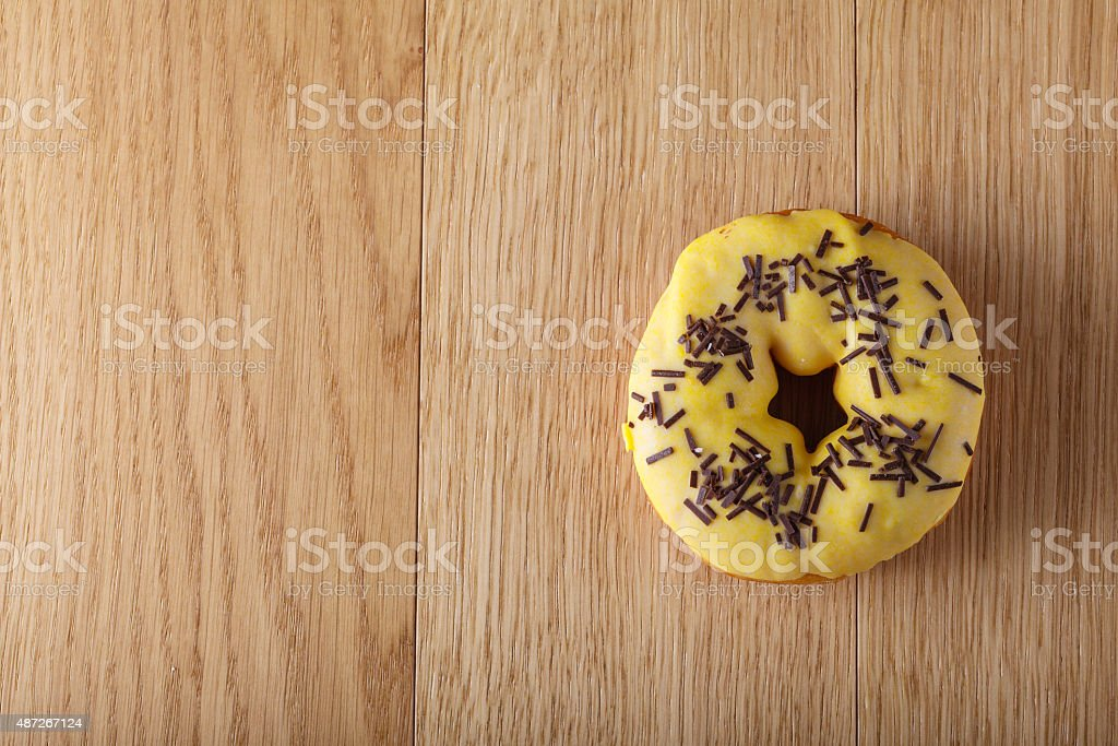 Yellow donut stock photo