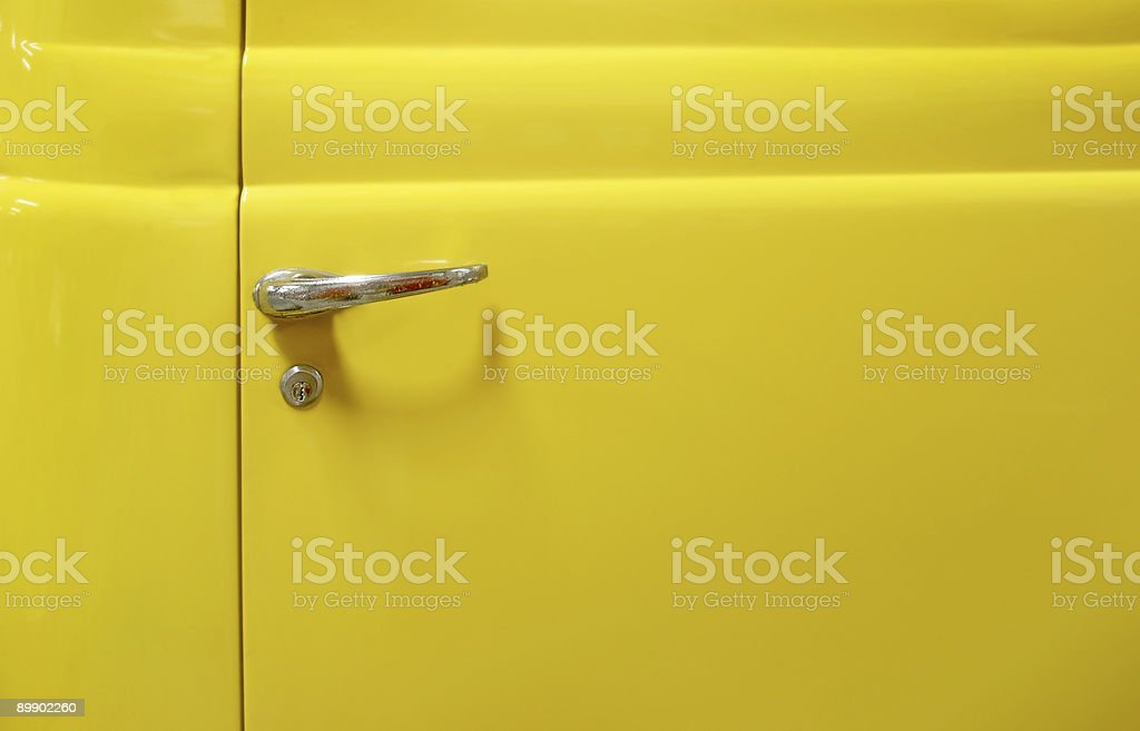 yellow door royalty-free stock photo