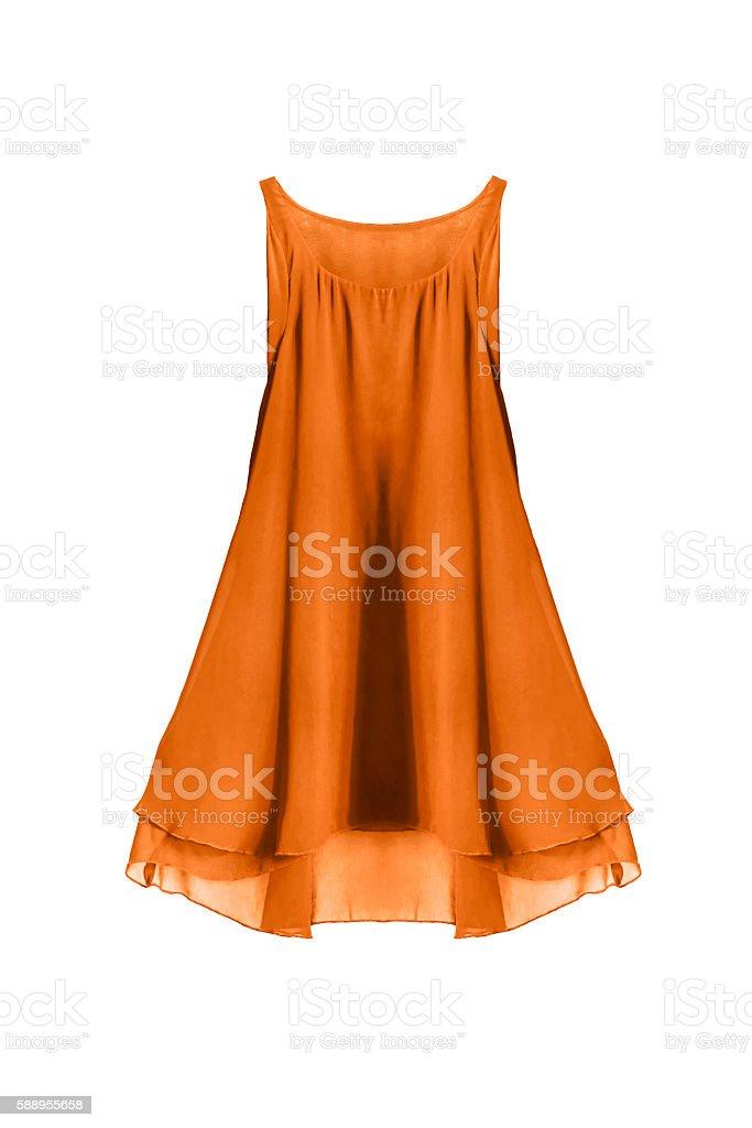 Yellow dress isolated stock photo