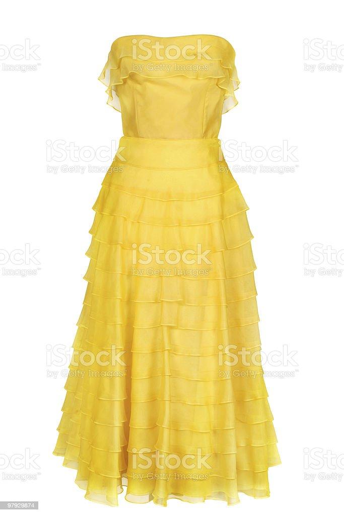 Yellow dress royalty-free stock photo