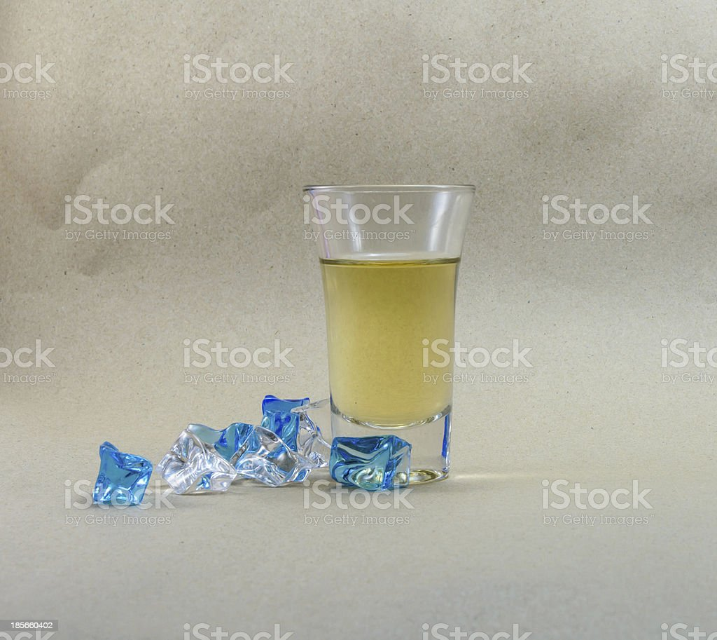 yellow drink with ice royalty-free stock photo