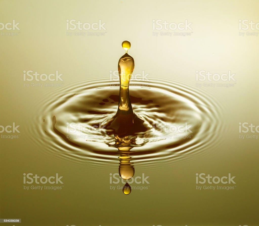 Yellow Drop stock photo