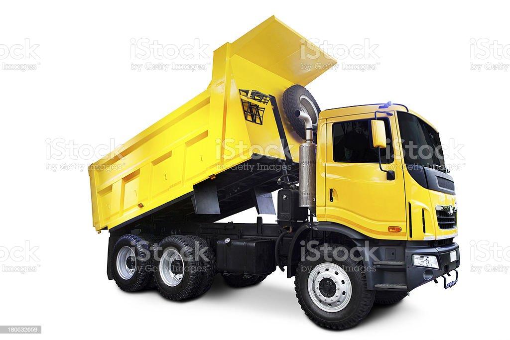 Yellow Dump Truck stock photo
