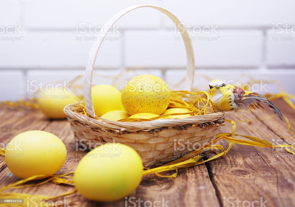 yellow Easter still royalty-free stock photo