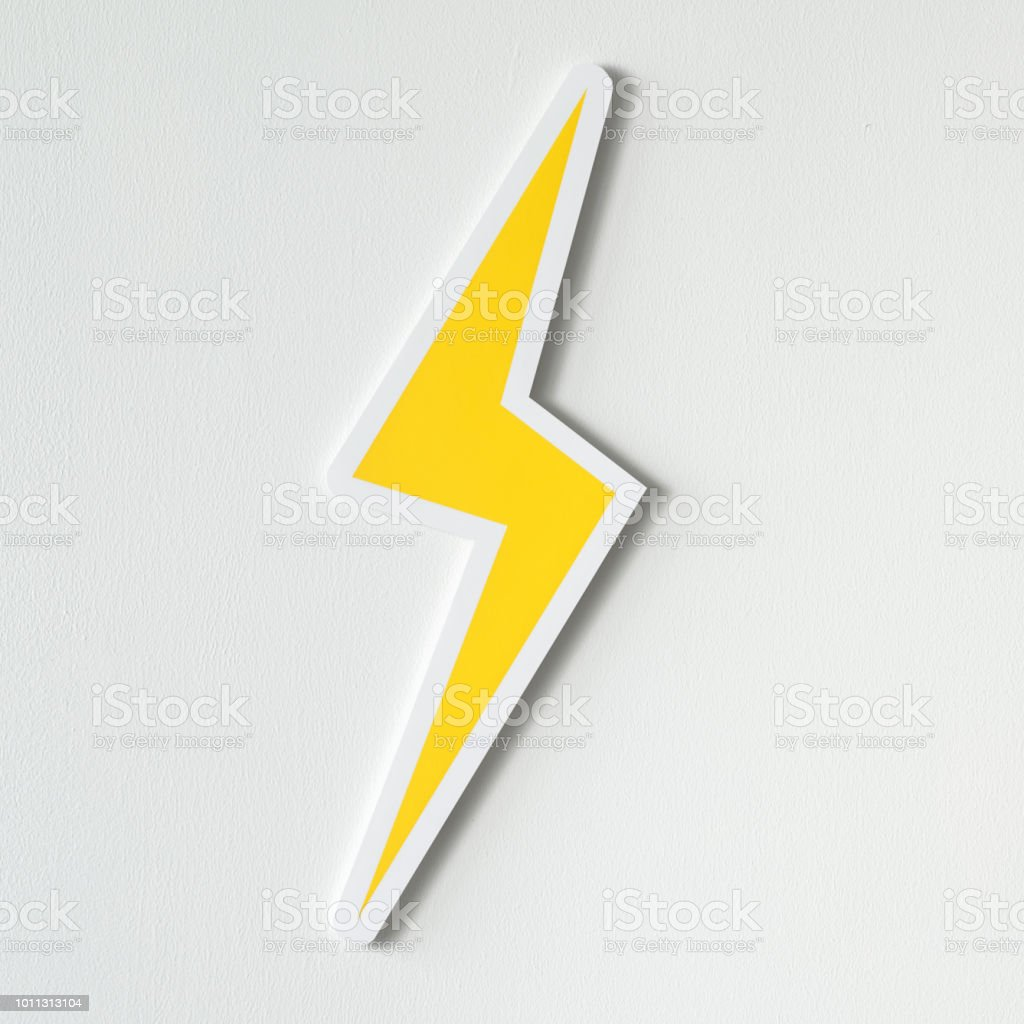 Yellow Electric Lightning Bolt Icon Stock Photo Download Image Now Istock