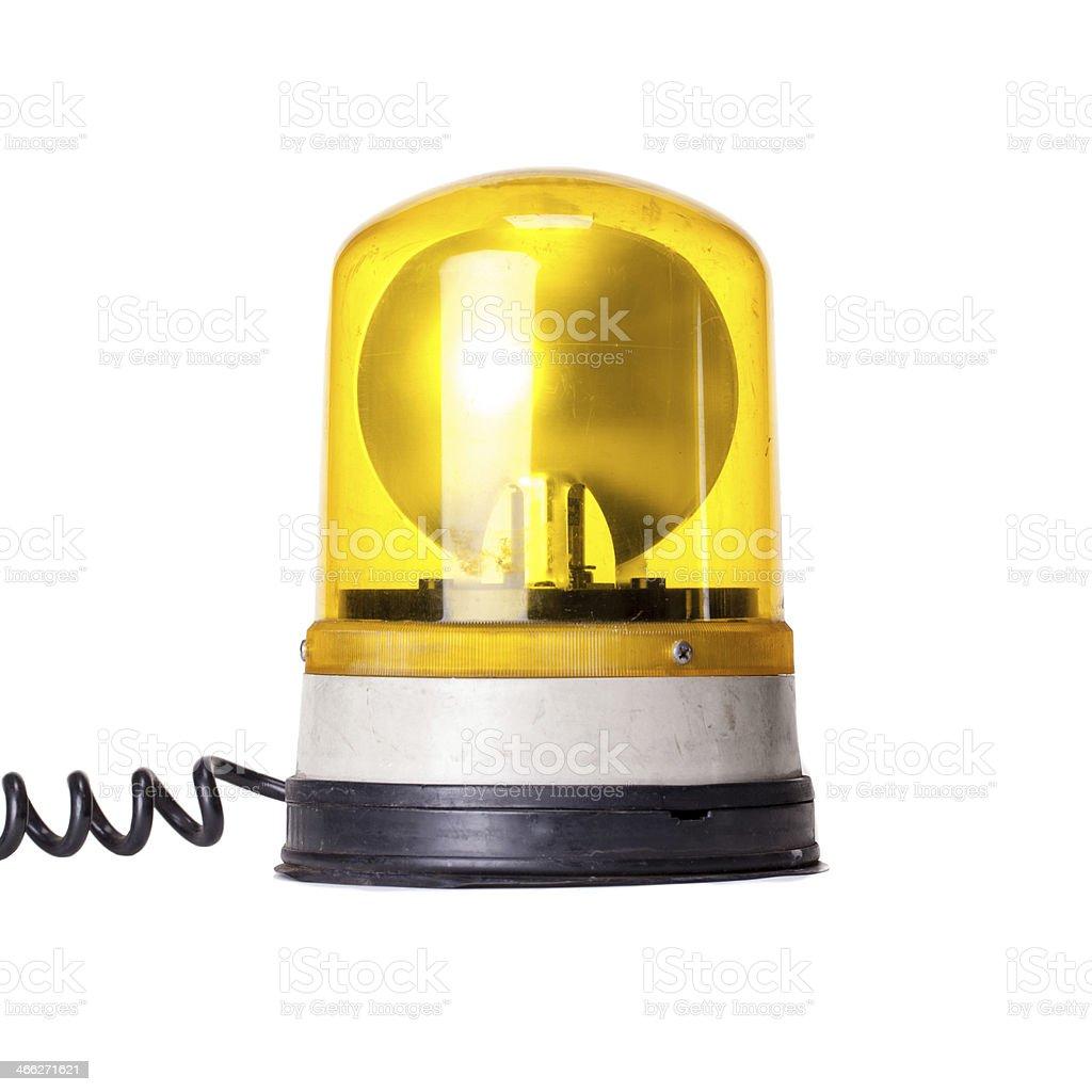 Yellow Emergency Light stock photo