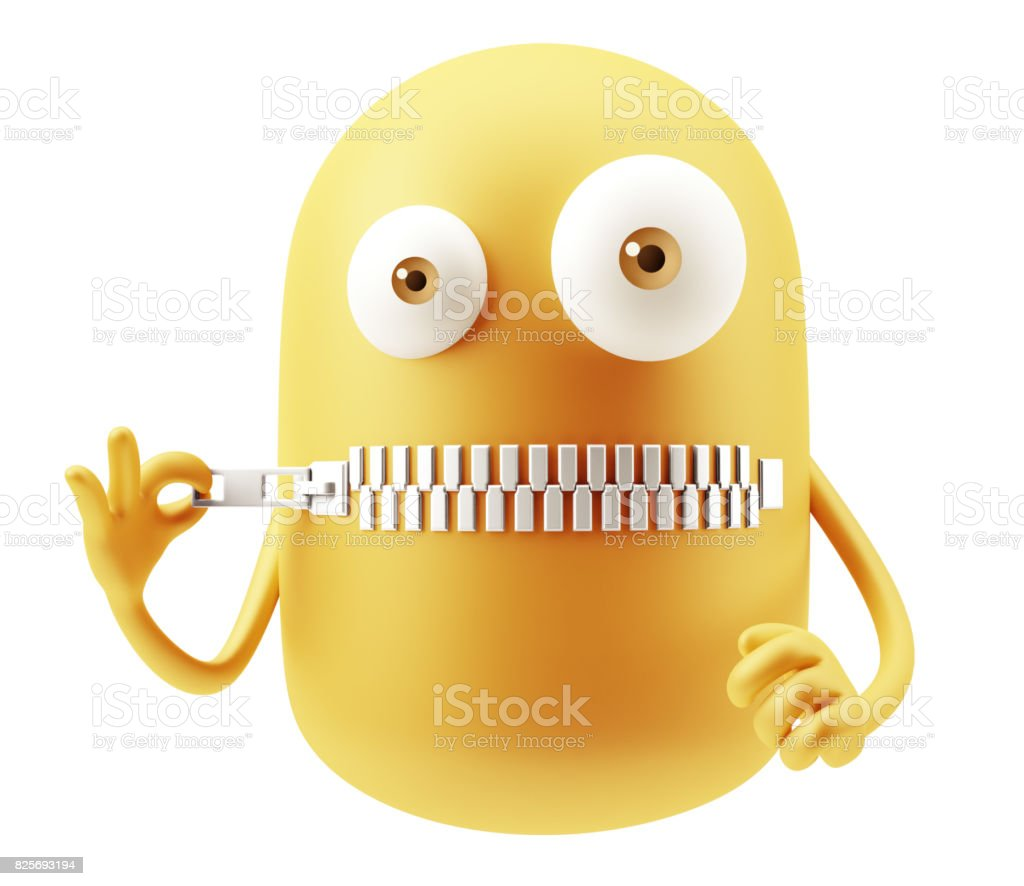 Yellow Emoticon Expression stock photo