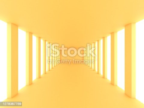 Yellow empty bright room
