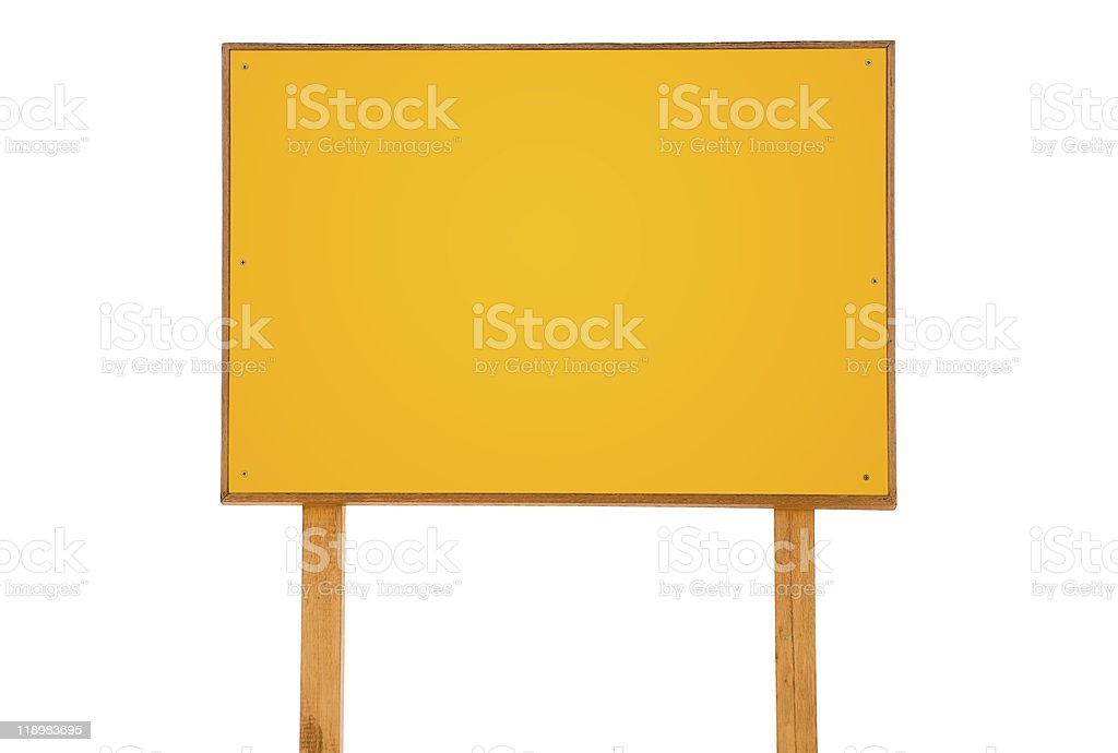 yellow empty sign royalty-free stock photo