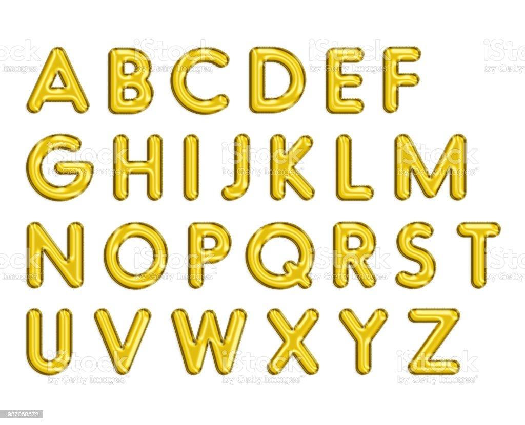 Gula engelska alfabetet bildbanksfoto