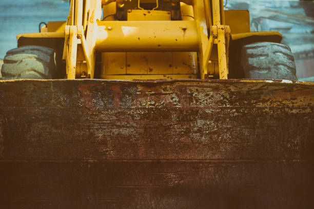 Yellow Excavator stock photo