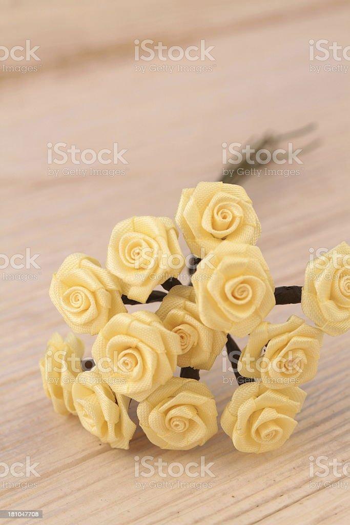 yellow fabric flowers royalty-free stock photo