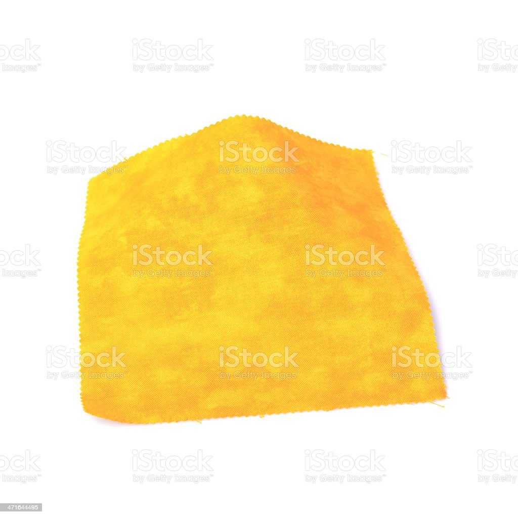Yellow Fabric Swatch royalty-free stock photo