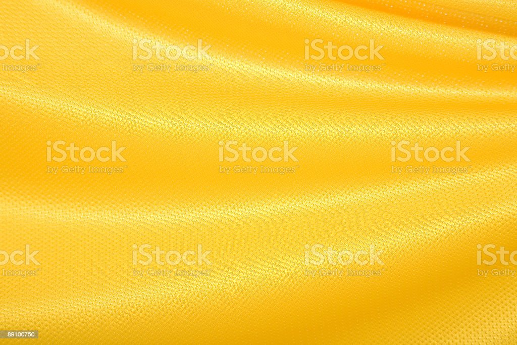 Yellow Fabric Waving royalty-free stock photo