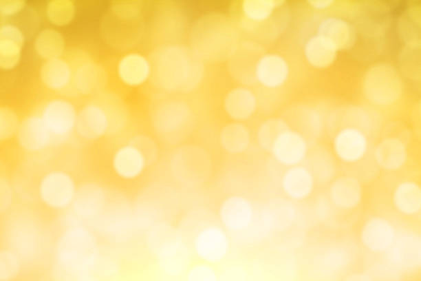 Yellow Fairy Lights Background stock photo