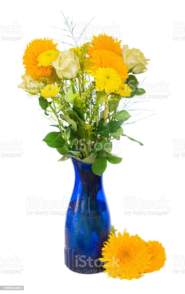 Yellow fall bouquet royalty-free stock photo