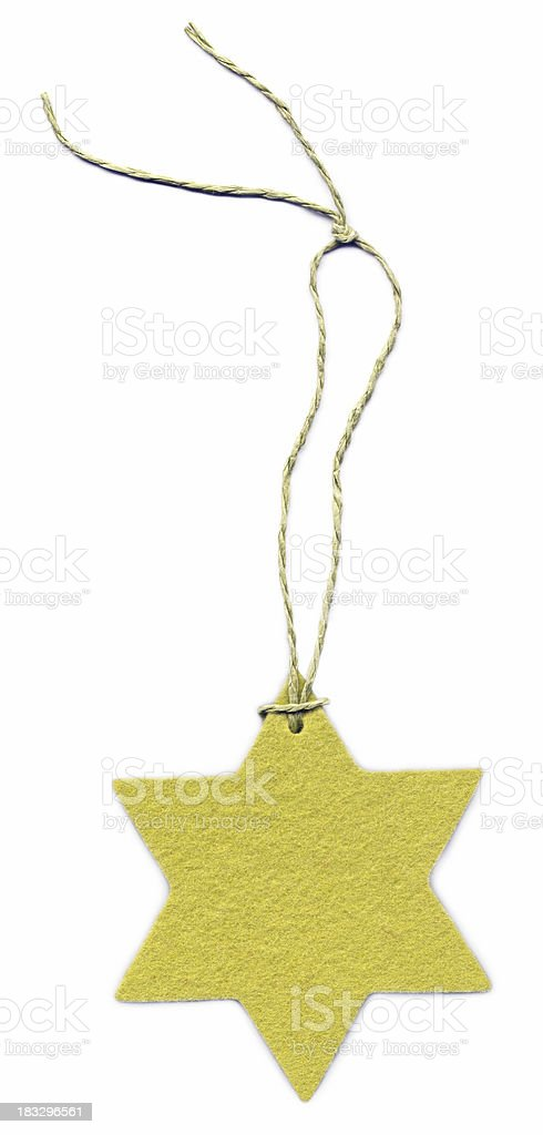 Yellow felt star royalty-free stock photo
