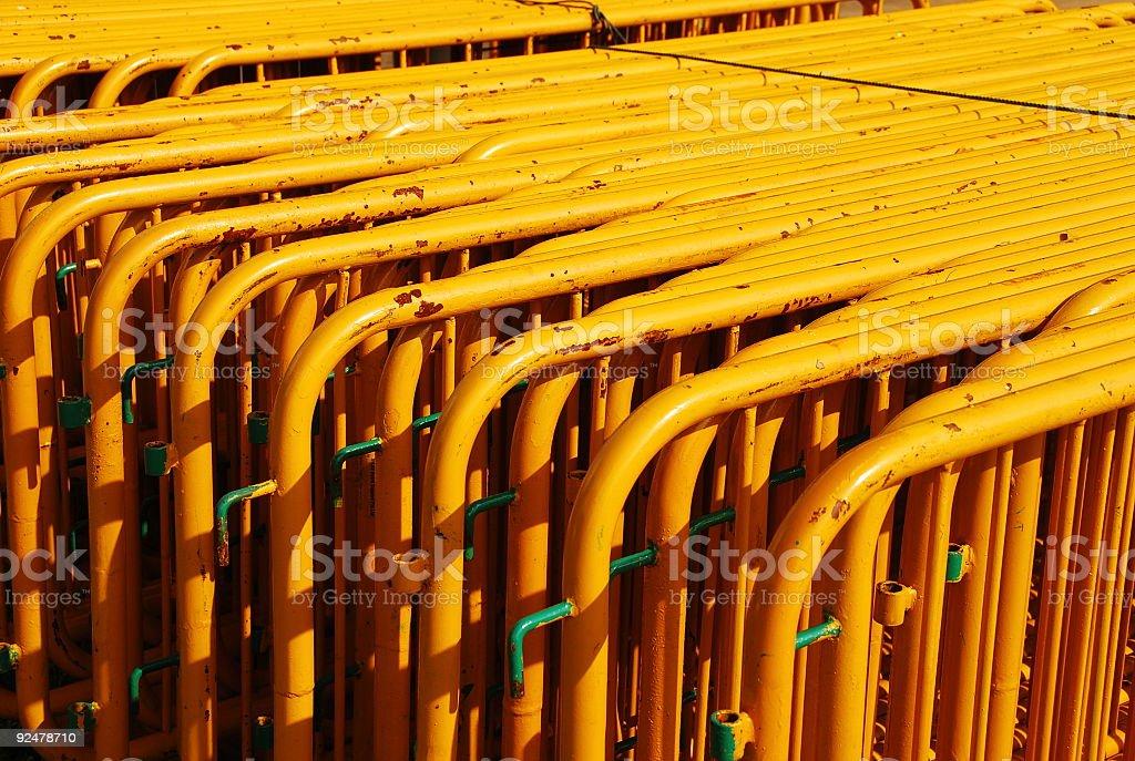 Yellow Fences royalty-free stock photo