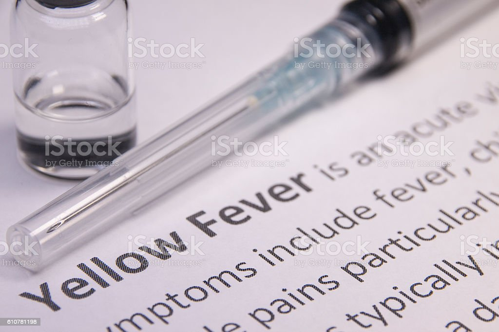 Yellow Fever Vaccine stock photo