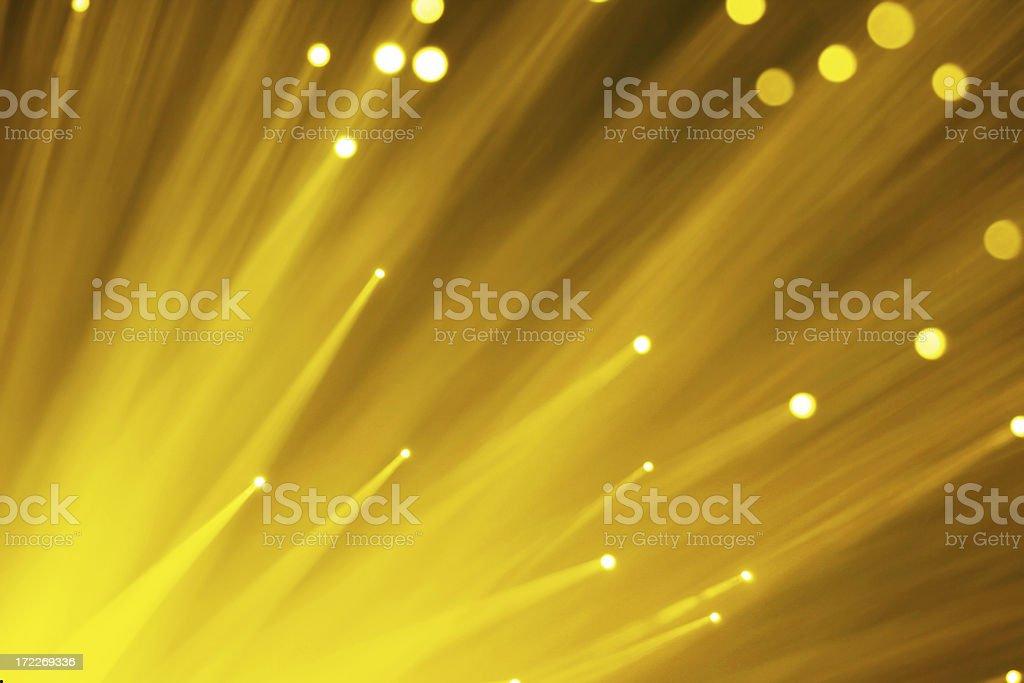 Yellow Fiber Optics royalty-free stock photo