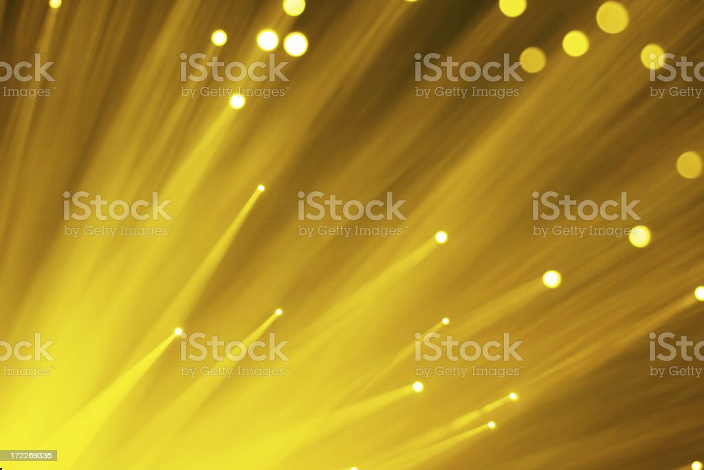 Yellow Fiber Optics stock photo